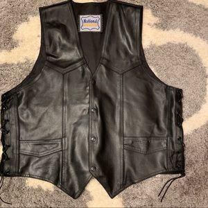 VTG Leather vest,  see measurements